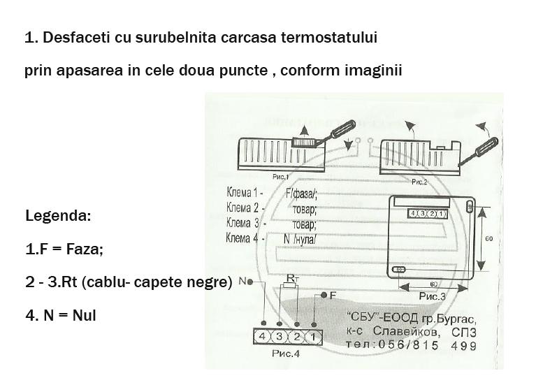 Conectarea cablurilor la sistemul de incalzire